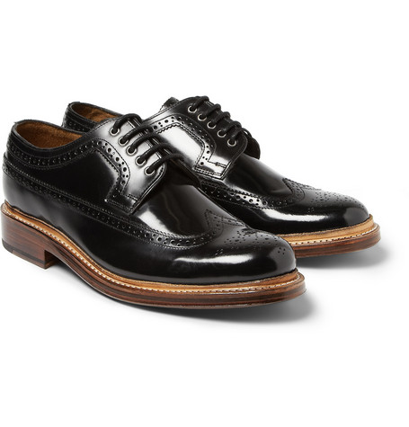 Grenson Sid High-Shine Leather Brogues