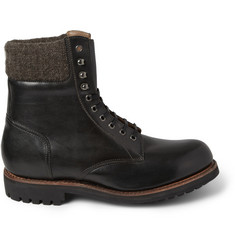 Grenson Mason Leather Lace-Up Boots