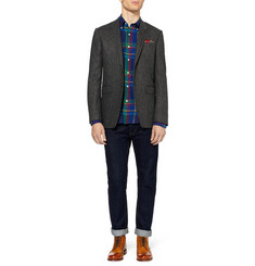 Gant Rugger Slim-Fit Check Brushed-Cotton Shirt