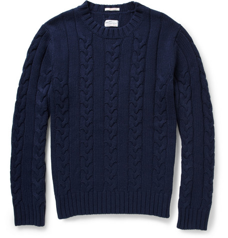 Gant Rugger Cable-Knit Crew Neck Sweater