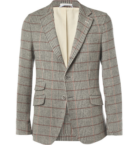 Gant Rugger Slim-Fit Prince Of Wales Check Wool Blazer