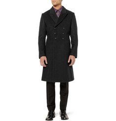 Alexander McQueen Double-Breasted Wool and Cashmere-Blend Coat