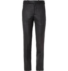 Alexander McQueen Stopping Stripe Wool Suit Trousers