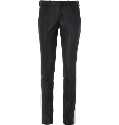 Alexander McQueen Tapered Panelled Wool Trousers