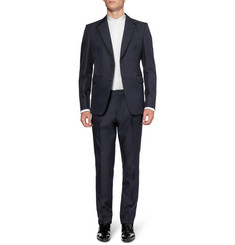 Alexander McQueen White Slim-Fit Cotton Tuxedo Shirt