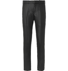Alexander McQueen Slim-Fit Polka-Dot Wool and Silk-Blend Trousers