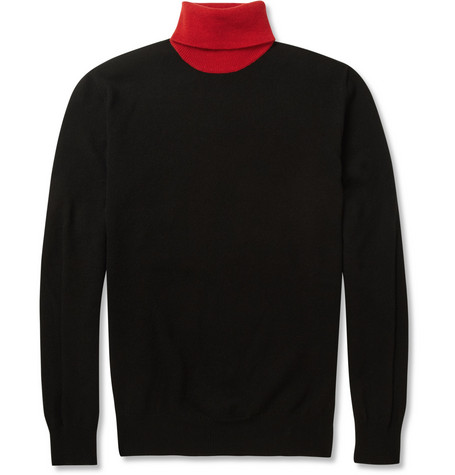 Alexander McQueen Wool and Cashmere-Blend Rollneck Sweater