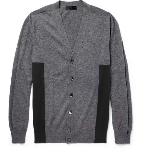 Alexander McQueen Panelled Wool and Cashmere-Blend Cardigan