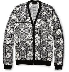Alexander McQueenPrinted Wool Cardigan