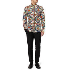 Alexander McQueen Slim-Fit Printed Cotton Shirt