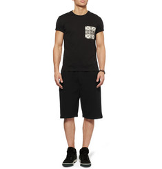 Alexander McQueen Contrast Pocket Cotton-Jersey T-Shirt