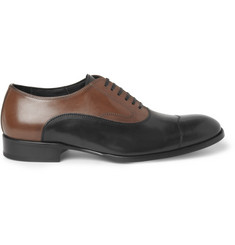 Alexander McQueen Two-Tone Leather Oxford Shoes