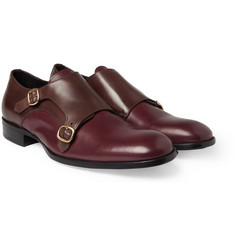 Alexander McQueen Two-Done Double Monk-Strap Shoes