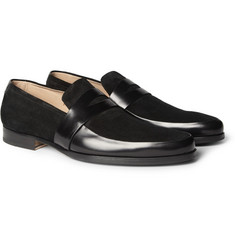 Mr. Hare Penet Leather and Suede Loafers