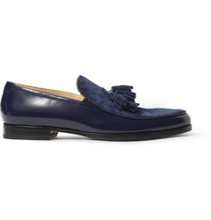 Mr. Hare Genet High-Shine Leather And Suede Tassel Loafers