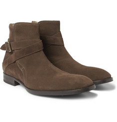 Mr. Hare Jodhpur Suede Buckled Ankle Boots