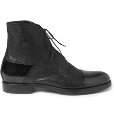 Mr. Hare Rogue Pebble-Grain Leather Lace-Up Boots