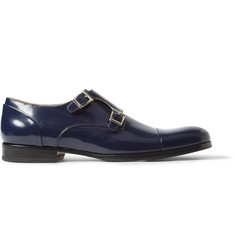 Mr. Hare High-Shine Leather Monk-Strap Shoes