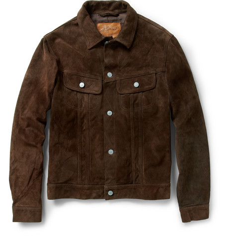 Jean Shop Washed-Suede Western Jacket