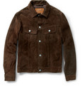 Jean Shop - Washed-Suede Western Jacket