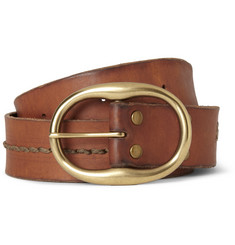 Jean Shop Stitched Leather Belt