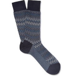 Missoni Patterned-Knit Cotton-Blend Socks