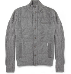Faconnable Quilted-Front Wool Lightweight Jacket