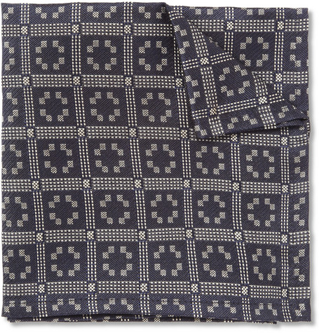 Marwood Jacquard Silk Pocket Square