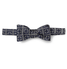Marwood Patterned Silk Bow Tie