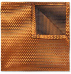 Marwood Mogador Woven-Silk Pocket Square
