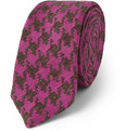 Marwood - Houndstooth Silk and Wool-Blend Tie