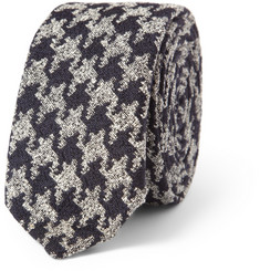 Marwood Houndstooth Silk and Wool-Blend Tie
