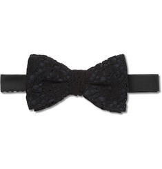 Marwood Lace and Silk Bow Tie