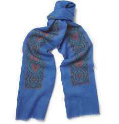 Marwood Printed Wool and Silk-Blend Scarf