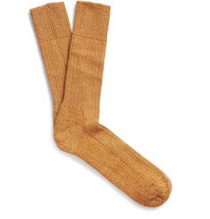 Marwood Thick Mohair-Blend Socks