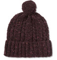 Richard James - Cable Knit Donegal Wool Beanie Hat