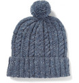 Richard James Cable Knit Donegal Wool Beanie Hat