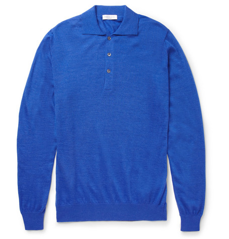 Richard James Cashmere and Silk-Blend Polo Shirt