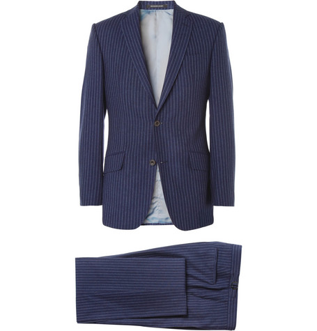 Richard James Quink Chalk-Stripe Wool Suit