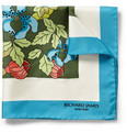 Richard James - Floral-Print Silk Pocket Square