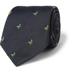 Richard James Duck-Patterned Silk Tie