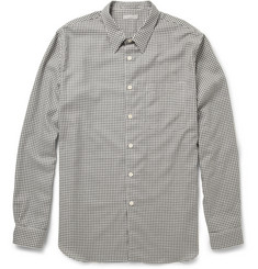 Margaret Howell Gingham-Check Cotton And Cashmere-Blend Flannel Shirt