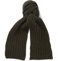Margaret Howell Flecked Merino Wool and Cashmere-Blend Scarf
