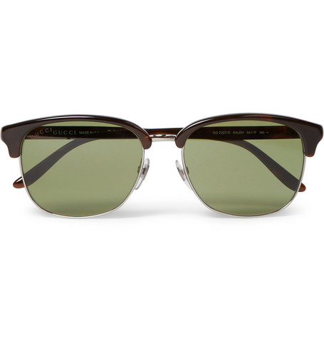 Gucci Metal and Acetate Sunglasses