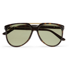 Gucci Metal-Trimmed Acetate Aviator Sunglasses