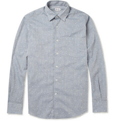 Slowear Glanshirt Slim-Fit Stitched Cotton-Blend Shirt