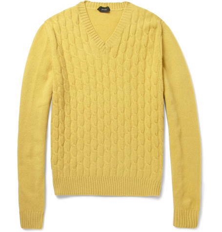 Slowear Zanone Cable-Knit Wool Sweater