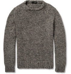 Slowear Zanone Wool and Yak-Blend Crew Neck Sweater