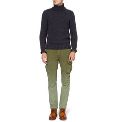 Slowear Zanone Chunky Wool and Yak-Blend Rollneck Sweater