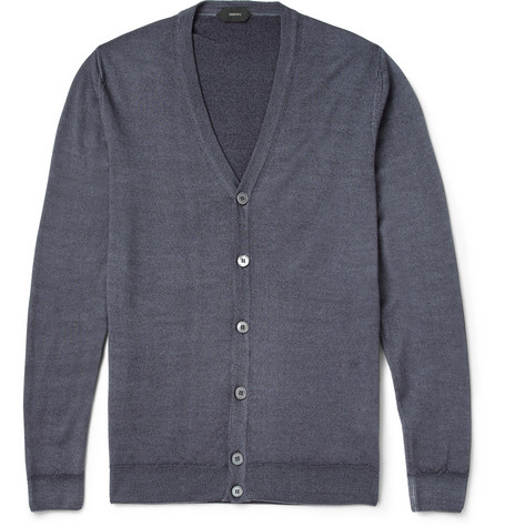 Slowear Zanone Garment Dyed Wool Cardigan